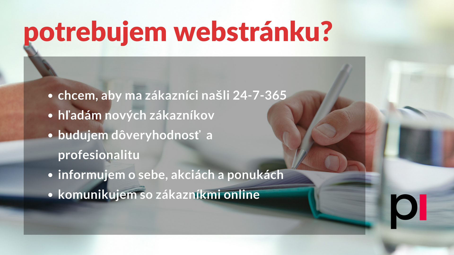 Potrebujem webstránku? Checklist