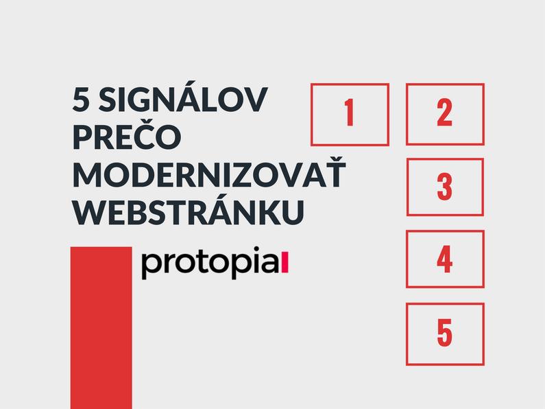 Protopia.sk - potrebujem zmodernizovať webstránku?
