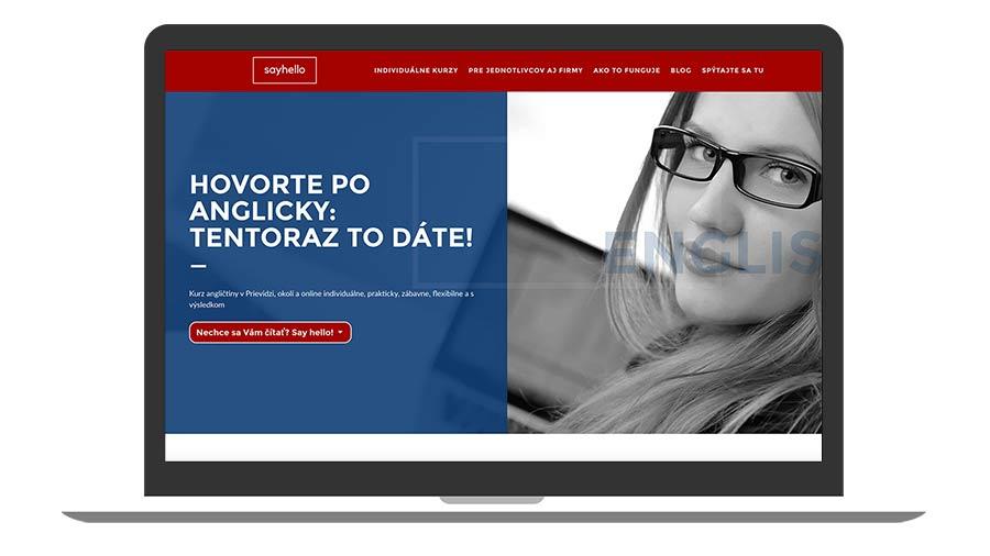 Protopia.sk | Portfólio | Sayhello.sk - individuálne kurzy angličtiny