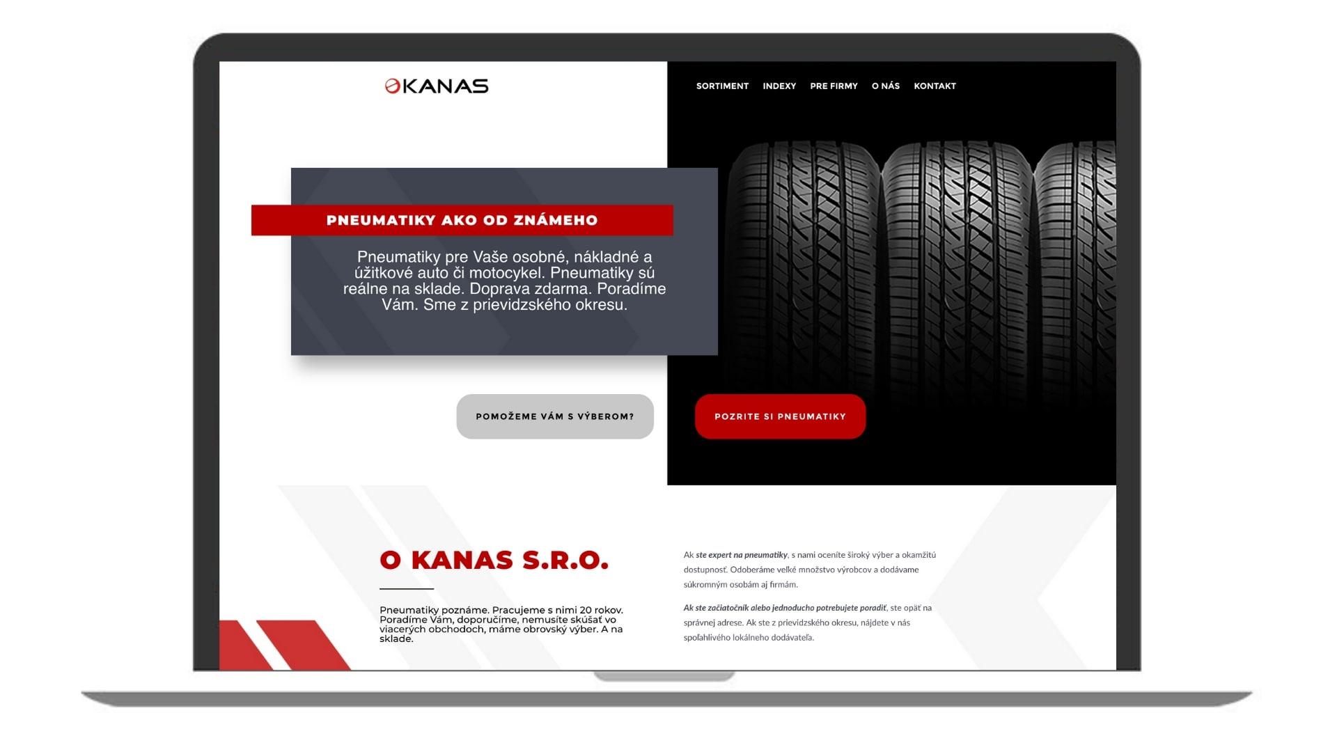 Protopia.sk | Porfólio | Kanas-sro - pneumatiky